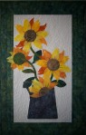 Sunflowers with spotlight